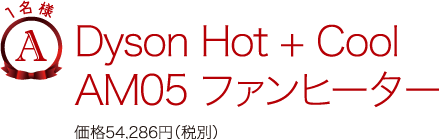 A.Dyson Hot + Cool AM05 ファンヒーター