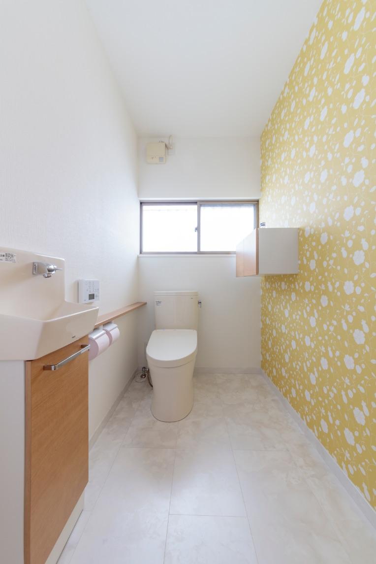 将来に備え広くしたトイレ。「かわいいから、夜のトイレが怖くなくなった」と息子さんも喜んだそう。