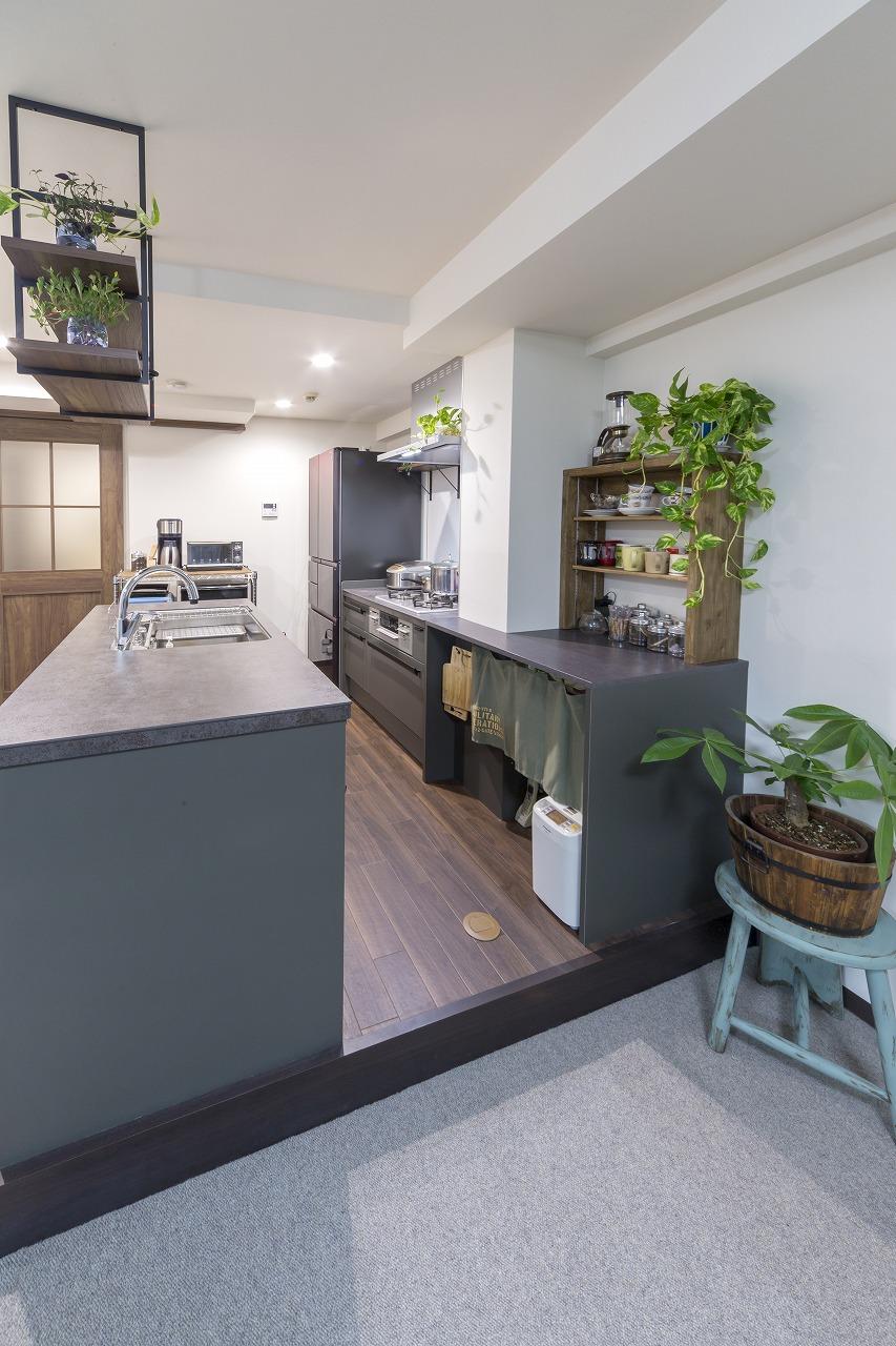 機能が充実したⅡ型オープンキッチン