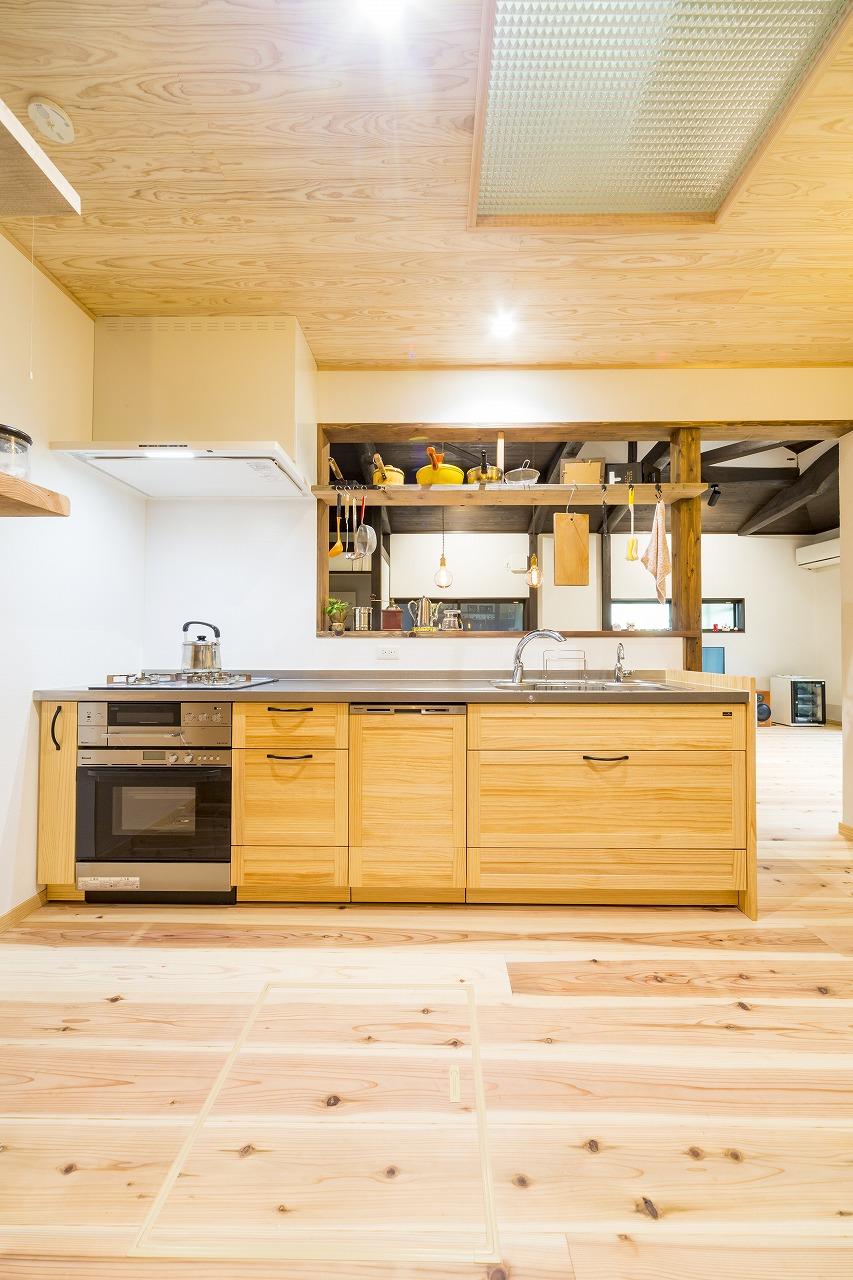 世羅郡|和室をキッチンにリフォーム