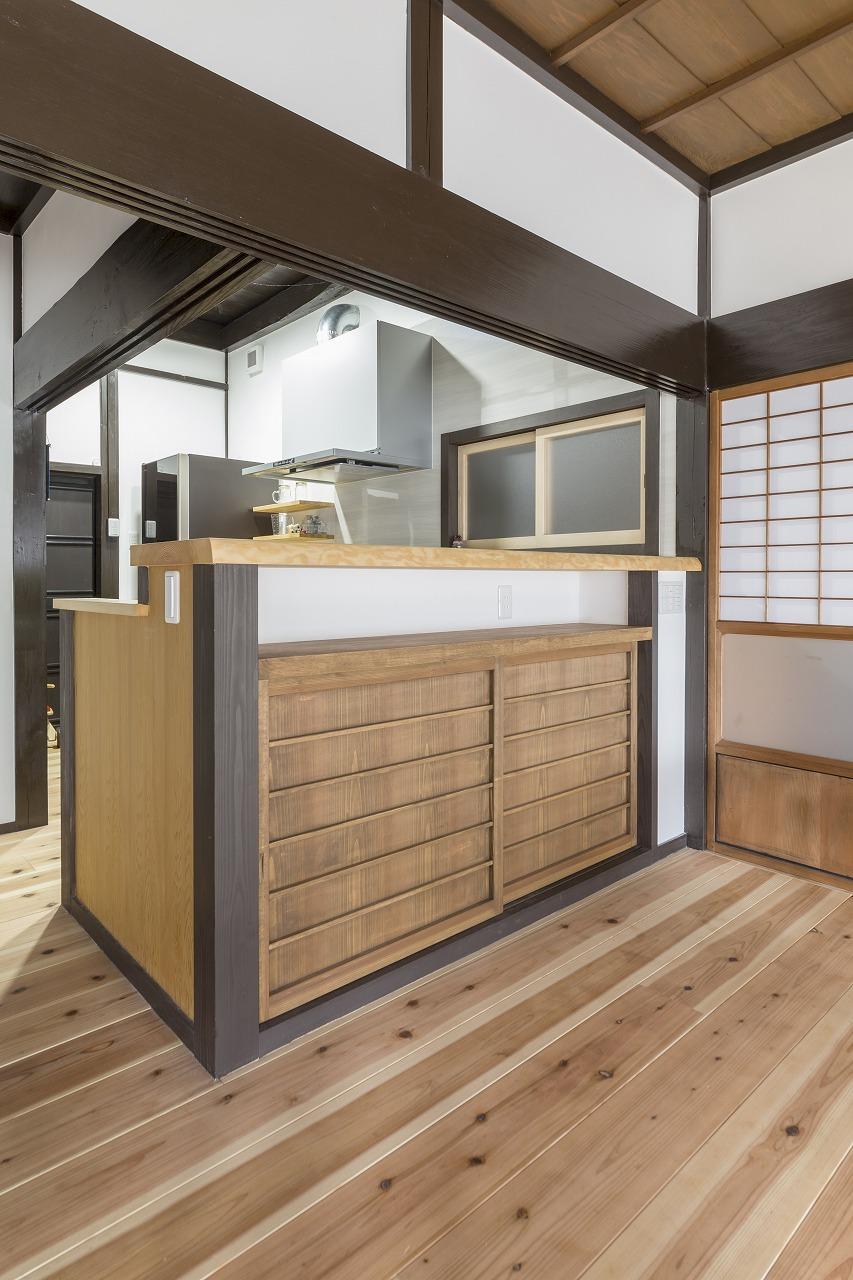 山県郡|古民家のキッチンリフォーム