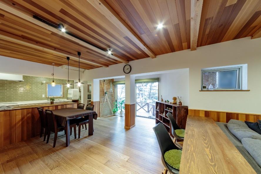 広島市|納屋が自然素材に包まれる住まいに大変身
