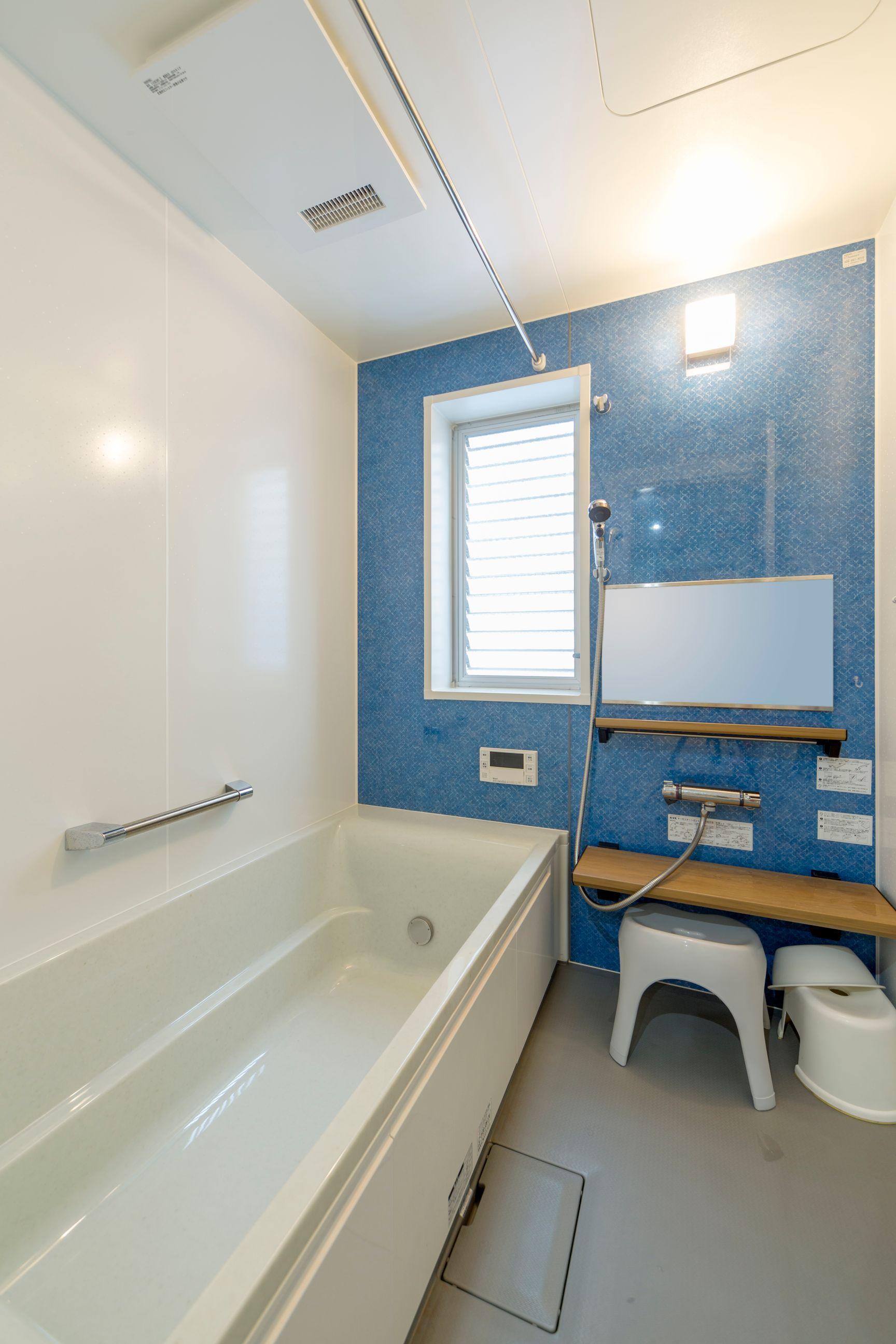 【広島市】デニムのようなブルーのお風呂