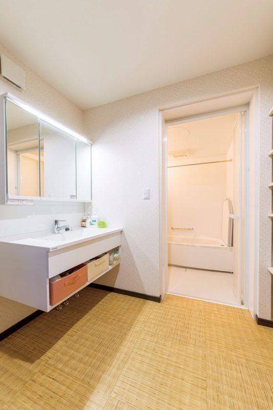 洗面脱衣室を使いやすく一新