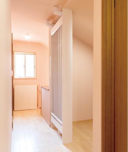壁とドアを取り払って ラジエーターを設置