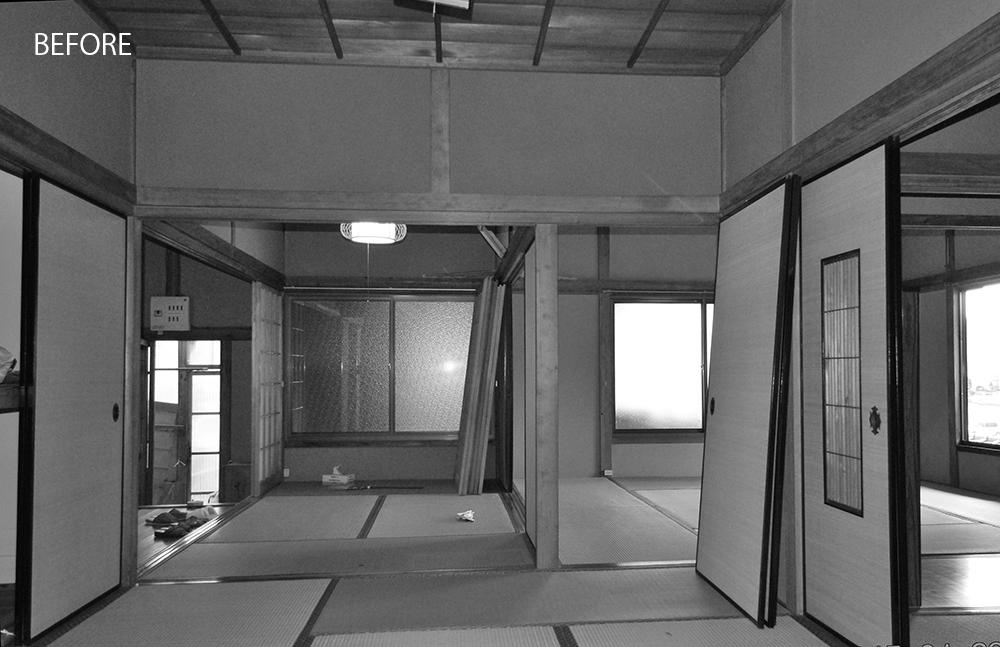 南面の部屋はすべてが和室の続き間でした。
