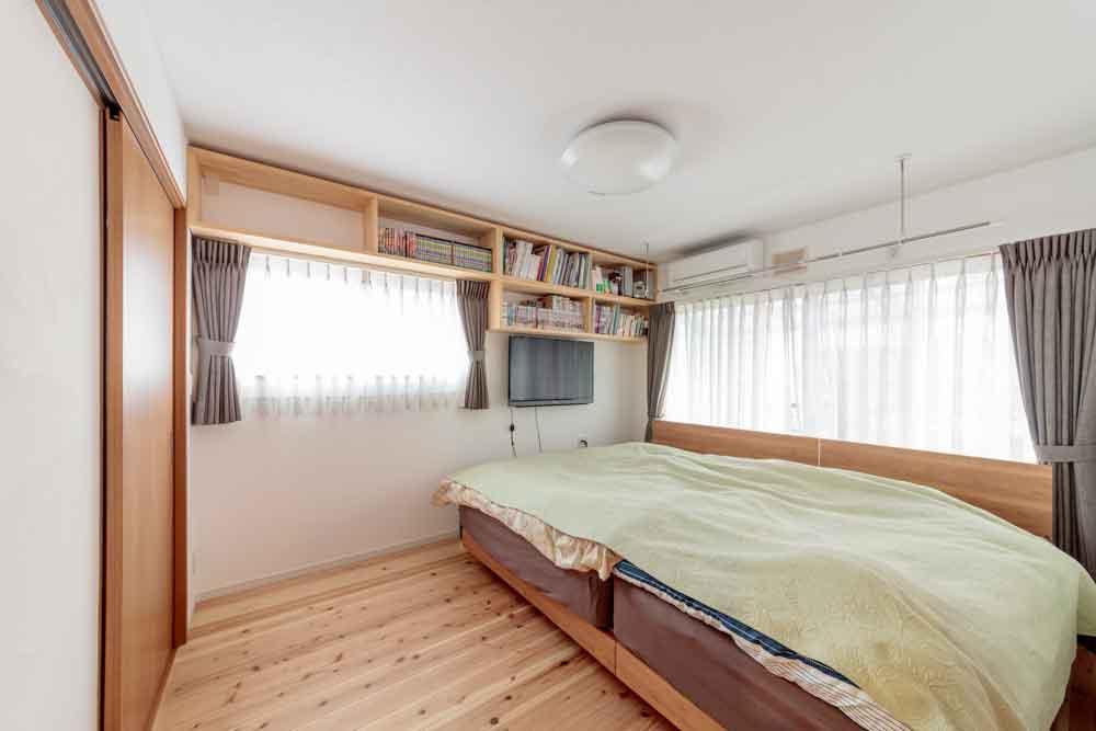 広島市|夫婦の快適な6.8畳の寝室