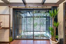 竹原市|室内からも楽しめる坪庭