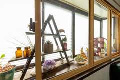 広島市|出窓と内窓との間をオシャレな空間に