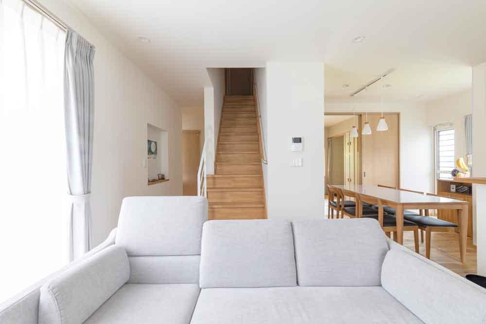 広島市|リビング階段のある家