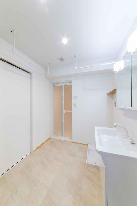 呉市|洗濯物を干すことができる洗面室
