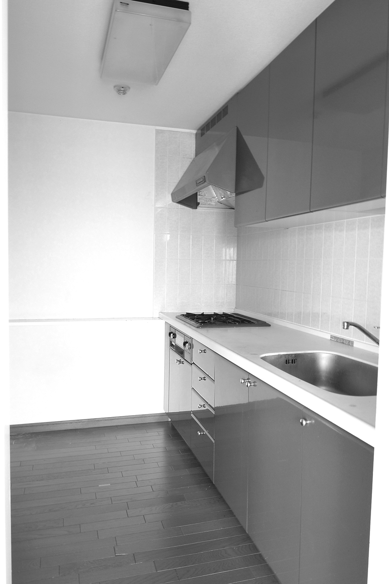 独立型のキッチンでリビングの様子は見えませんでした。