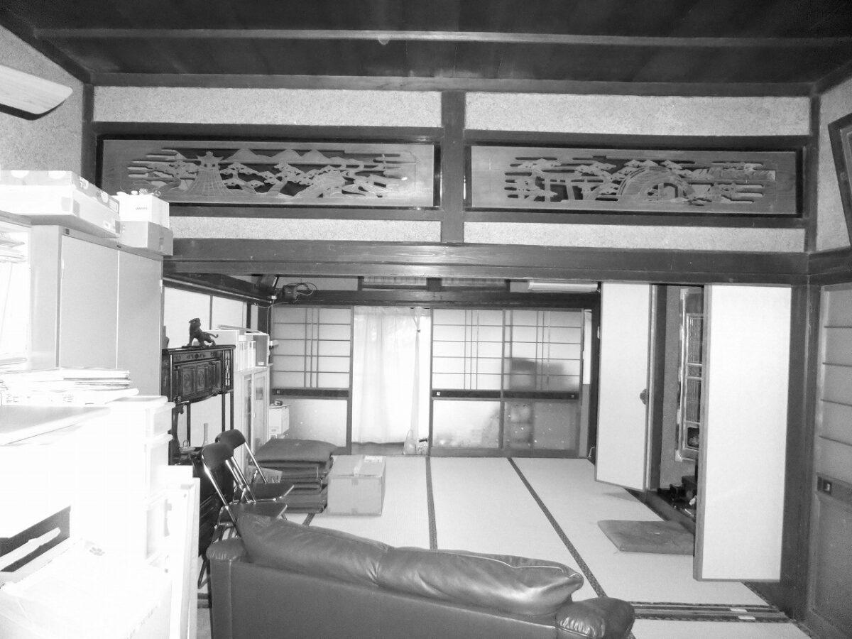 事務所の奥に位置していた和室は家族の部屋として使われることはありませんでした。